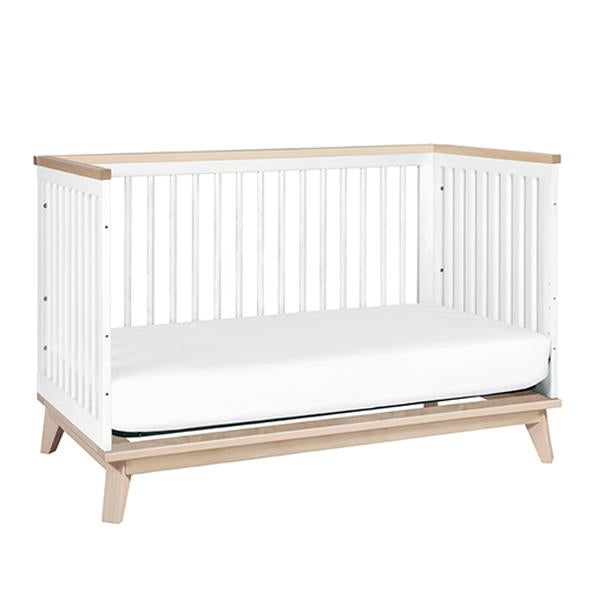 BABYLETTO SCOOT COT, WHITE / WASHED NATURAL