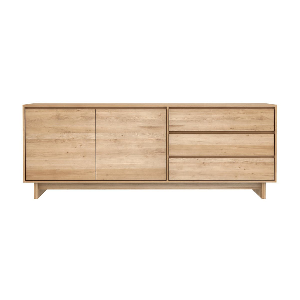ETHNICRAFT OAK WAVE SIDEBOARD