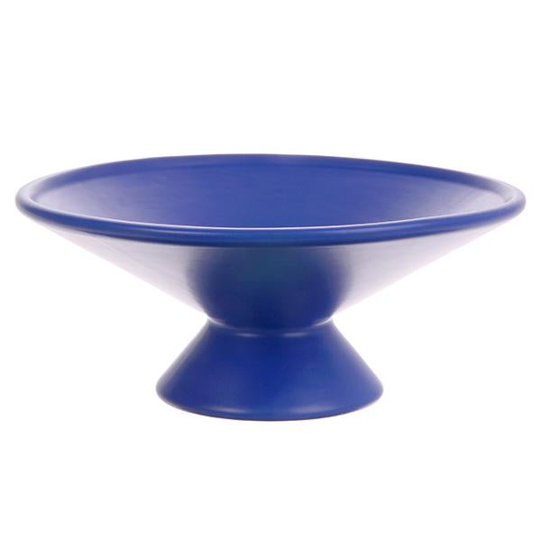 CERAMIC FRUIT BOWL COBALT