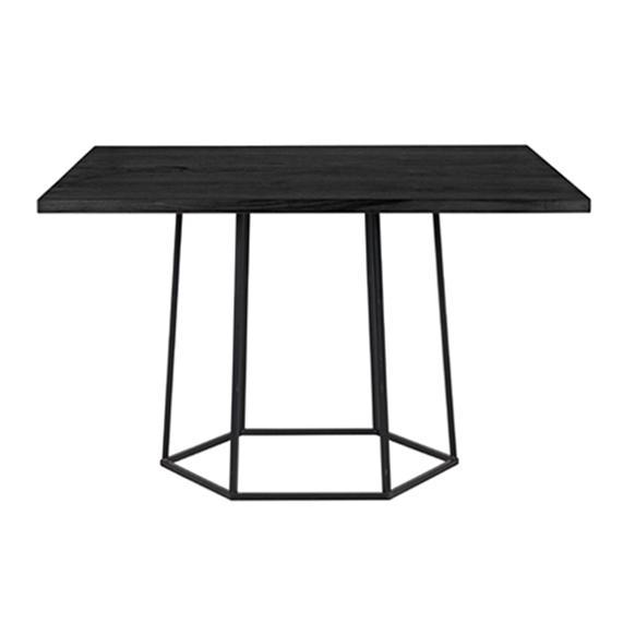 HEX DINING TABLE, MATTE BLACK