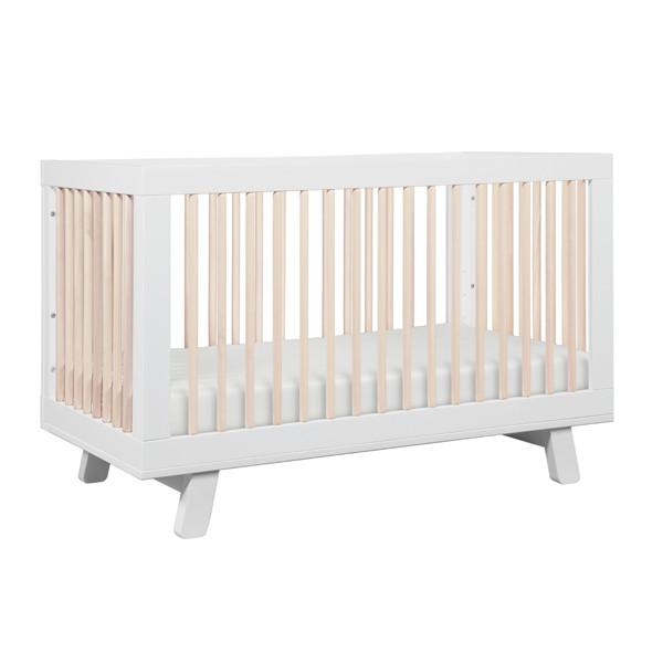 BABYLETTO HUDSON CONVERTIBLE COT WHITE / WASHED NATURAL