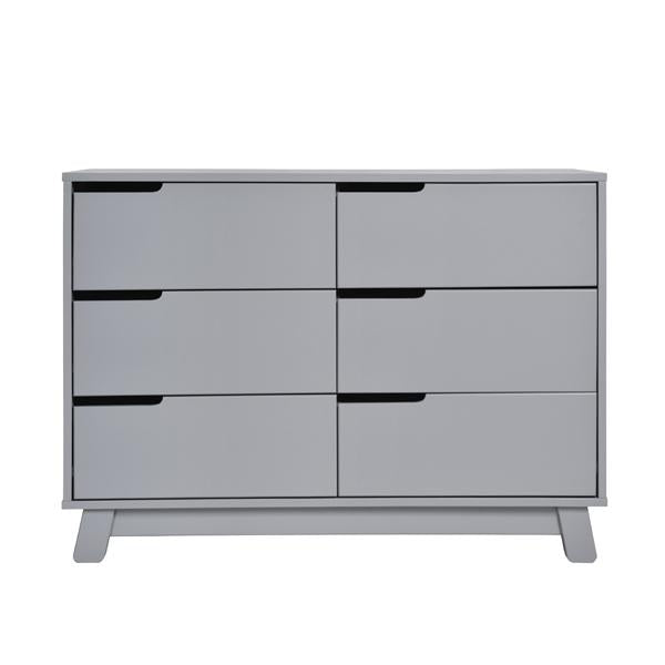 BABYLETTO HUDSON 6 DRAWER CHANGER DRESSER GREY