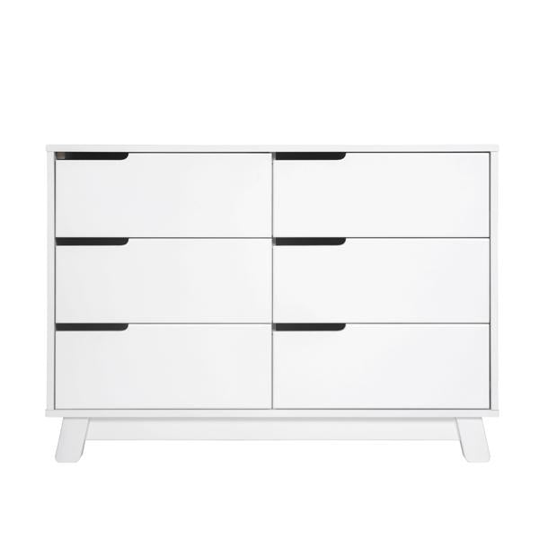 BABYLETTO HUDSON 6 DRAWER CHANGER DRESSER WHITE