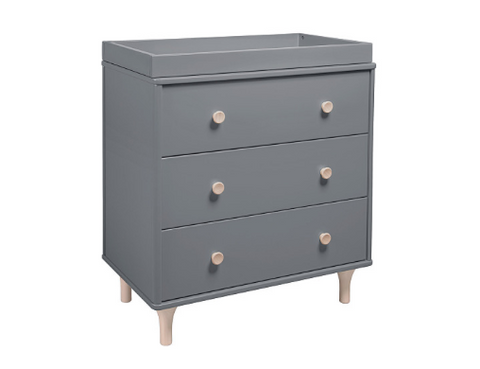 BABYLETTO LOLLY CHANGER DRESSER GREY/NATURAL