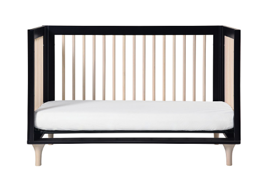 BABYLETTO LOLLY CONVERTIBLE COT BLACK/ WASHED NATURAL