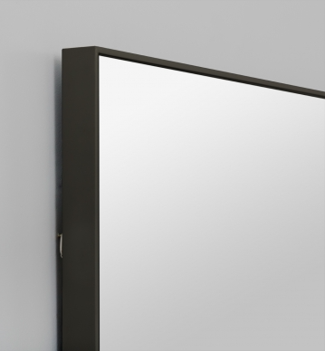 FLYNN RECTANGLE MIRROR BLACK