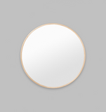 BELLA ROUND BRASS MIRROR