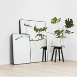 FLYNN CURVE RECTANGLE MIRROR BLACK