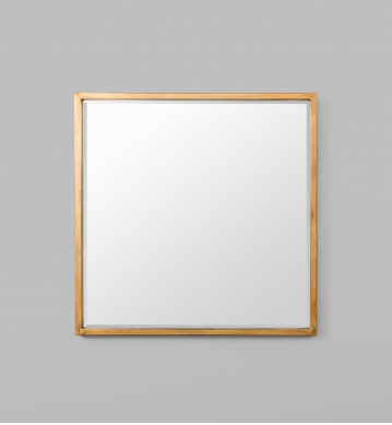 BRASS SQUARE MIRROR