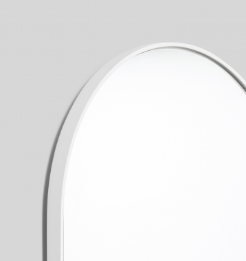 BJORN OVAL LARGE MIRROR BRIGHT WHITE