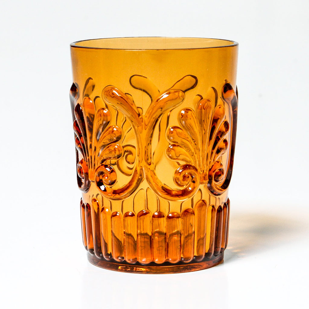 ACRYLIC TUMBLER, AMBER (Set of 2)