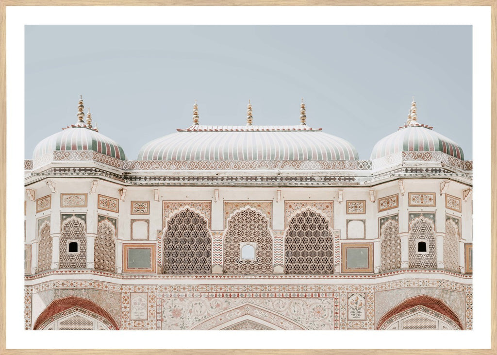 AMBER FORT, FRAMED PRINT