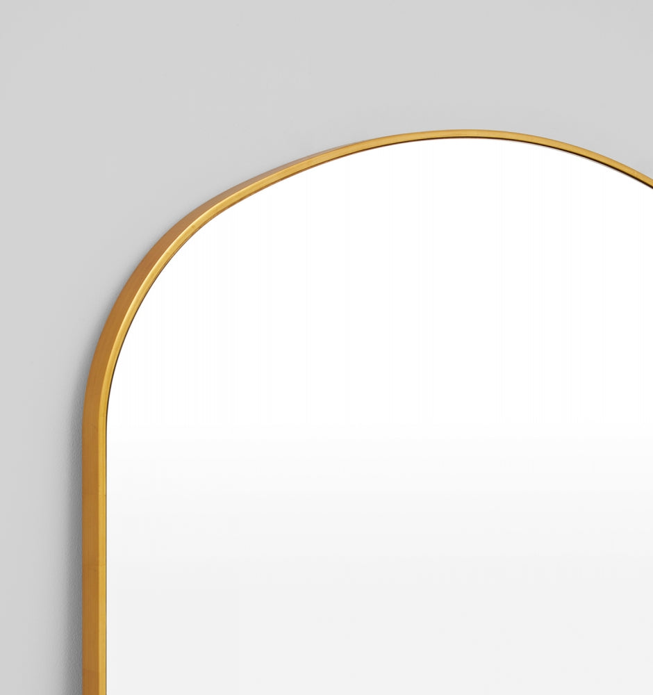 BELLA ARCH BRASS MIRROR 120 x 180cm