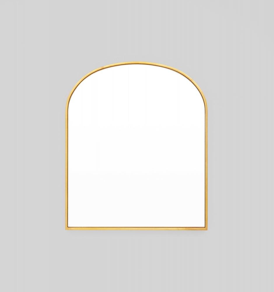 BELLA ARCH BRASS MIRROR 55 x 65cm