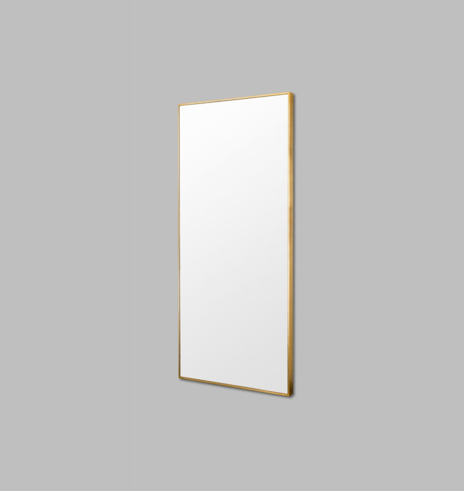BELLA LEANER MIRROR BRASS