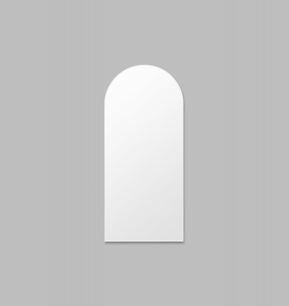 BJORN ARCH FLOOR MIRROR BRIGHT WHITE