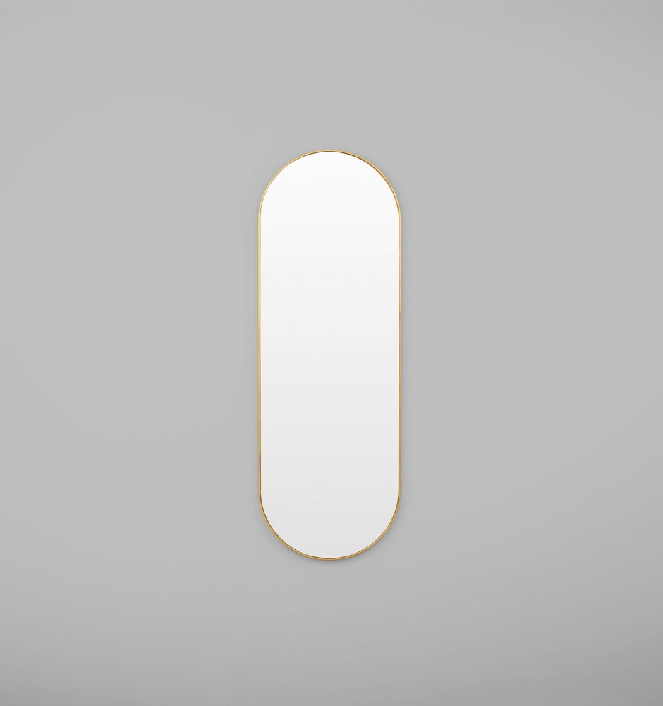 BJORN OVAL LARGE MIRROR BRASS