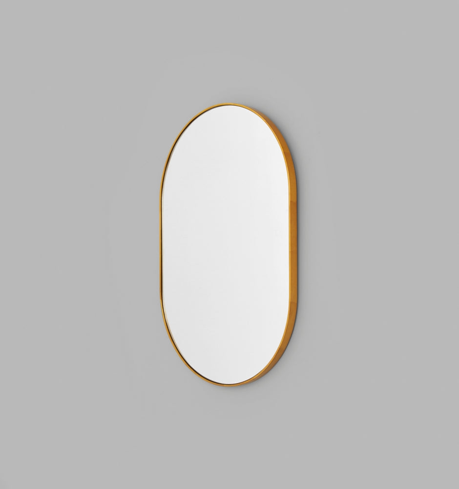 BJORN OVAL MIRROR BRASS