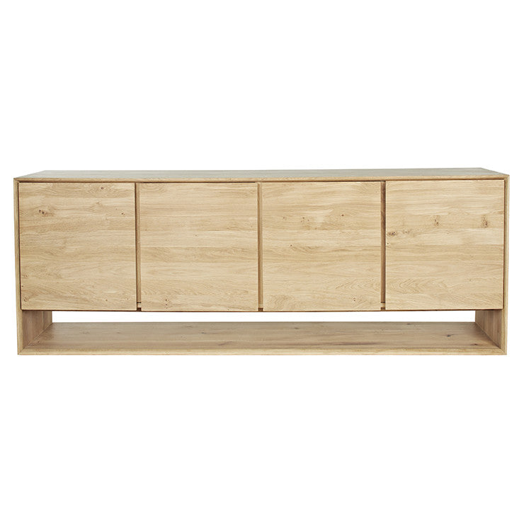 ETHNICRAFT NORDIC 4 DOOR BUFFET, OAK