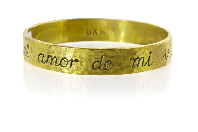 'LOVE OF MY LIFE' BANGLE - barton&bell