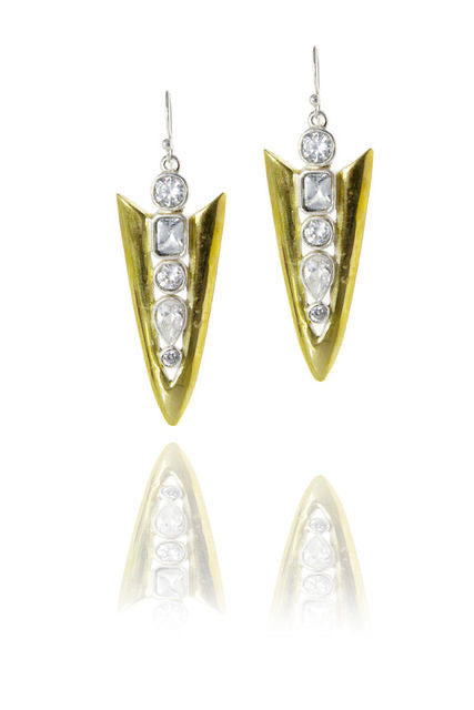 EMBELLISHED ARROWHEAD EARRINGS - barton&bell