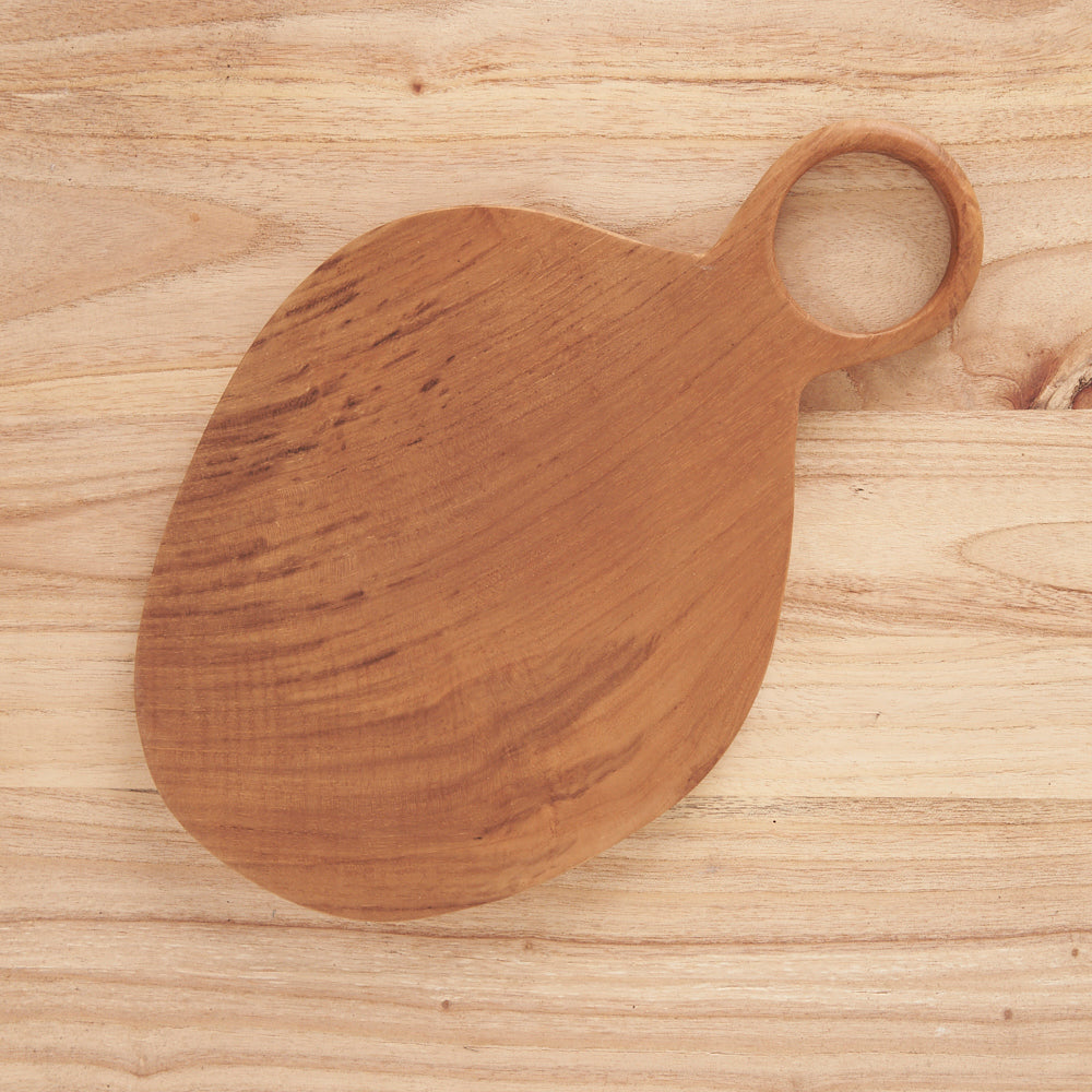 ROUNDED LOOP HANDLE CHEESE BOARD