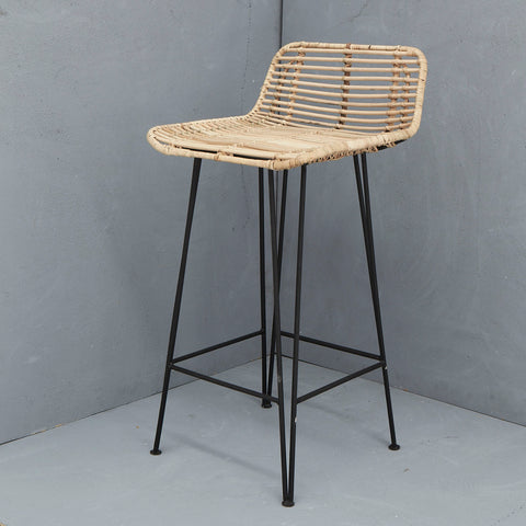 RATTAN IMAN BAR STOOL NATURAL
