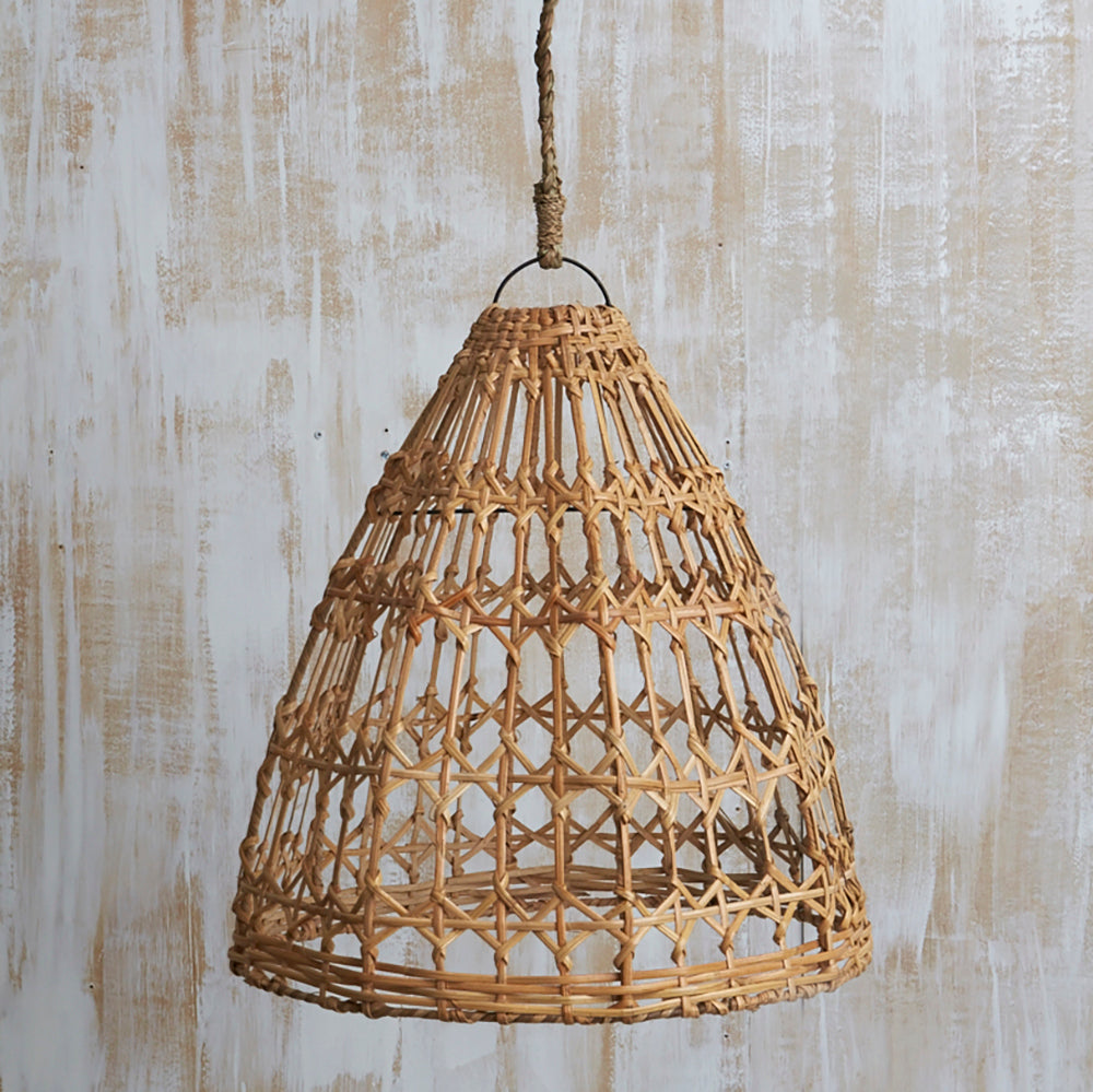 RATTAN TRI LIGHTSHADE, NATURAL