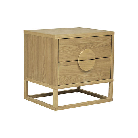 BENJAMIN BEDSIDE TABLES, NATURAL ASH