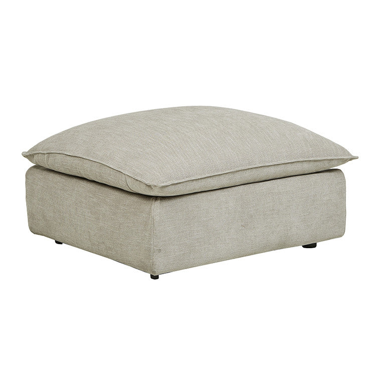 FELIX SLOUCH OTTOMAN, NATURAL STONE