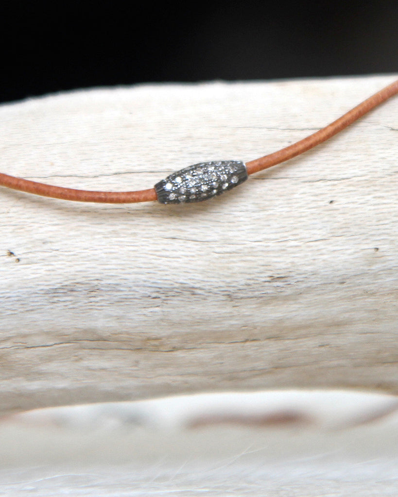 Pave Bead Necklace