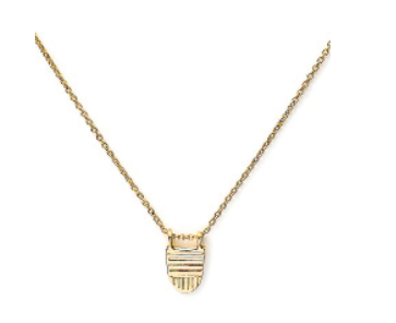 Brave Collection Gold Buddhist Flag Chain Necklace