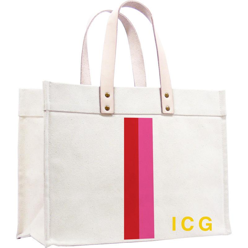 Parker Thatch Original Classic Tote - Racer Stripe Red and Pink