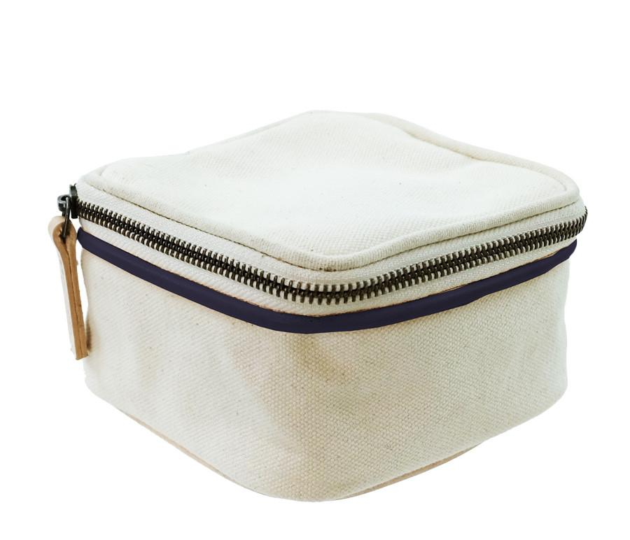 Parker Thatch Travel Jewel Box - Navy and Green Racer Stripe