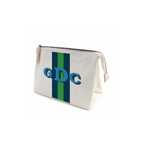 Parker Thatch Classic Clutch - Racer Stripe Navy and Green