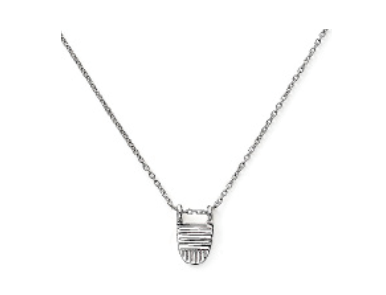 Brave Collection Silver Buddhist Flag Chain Necklace