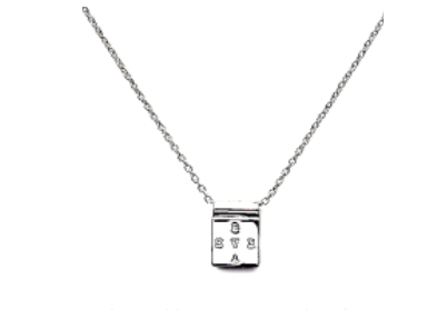 Brave Collection Silver Square Brave Chain Necklace