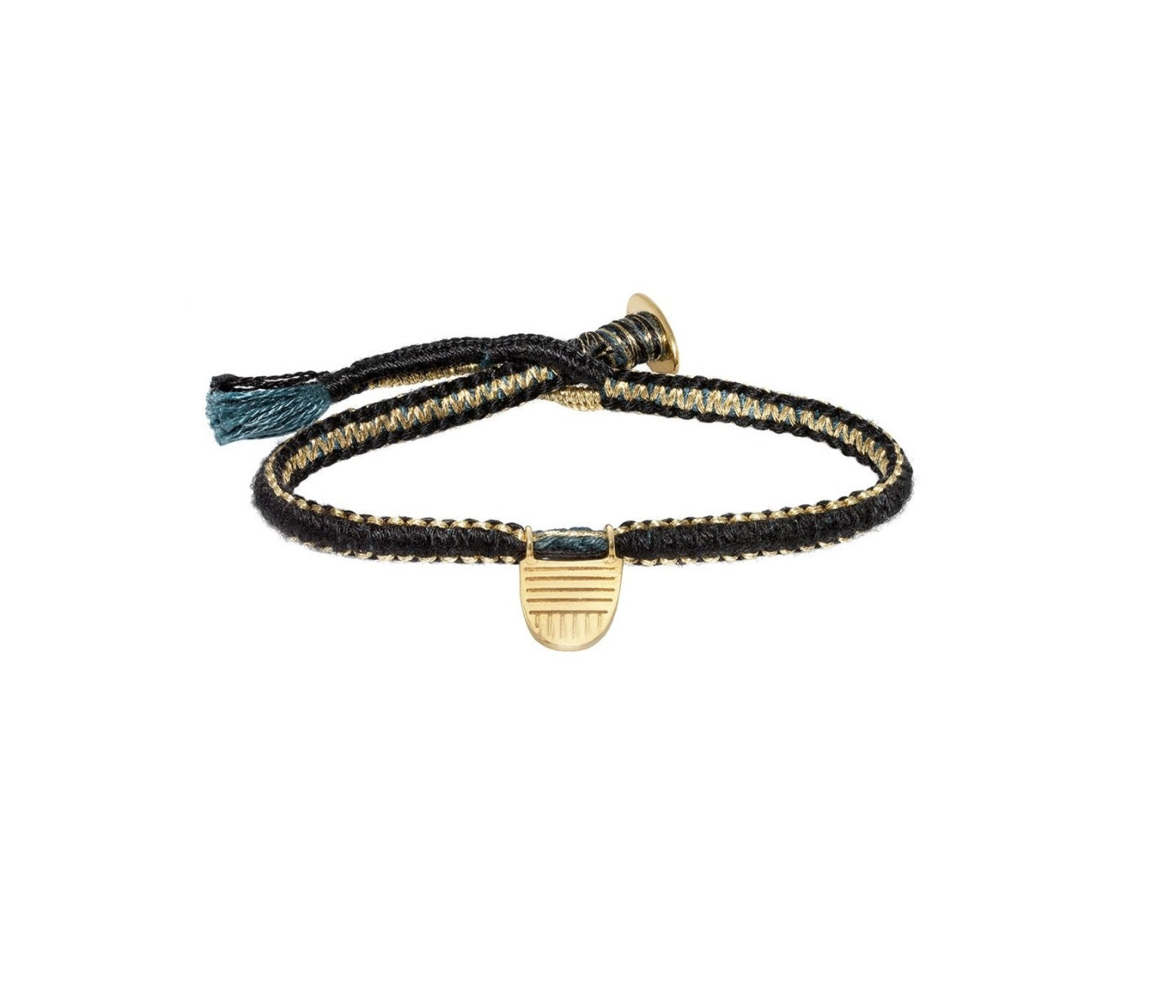 Brave Collection Buddhist Flag Reversible Cobra Stitch Bracelet