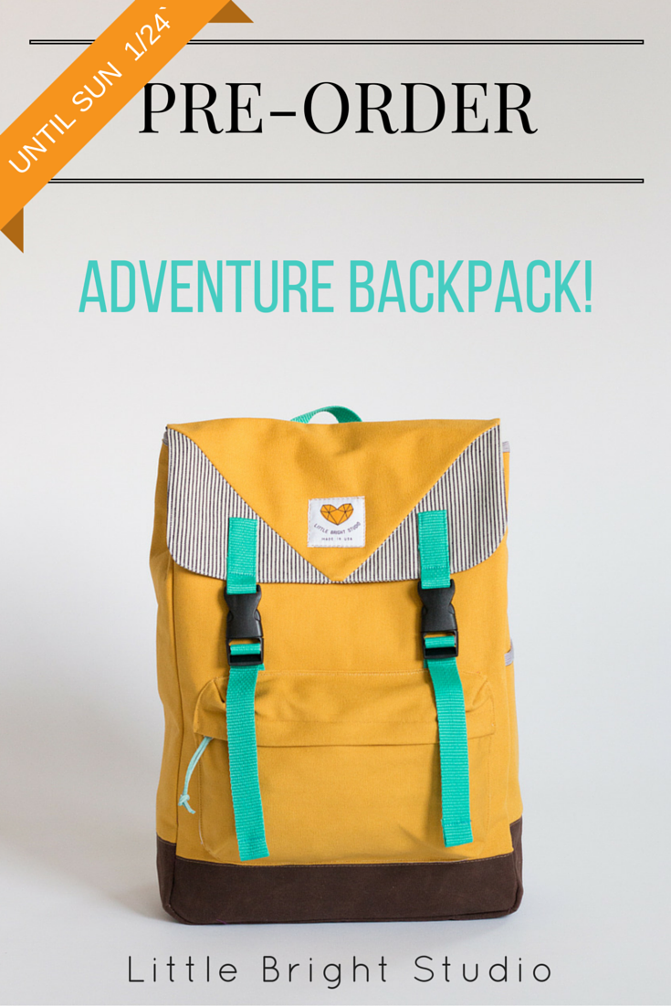 Pre-order the new Adventure Backpack at a special price until Sunday 1/24