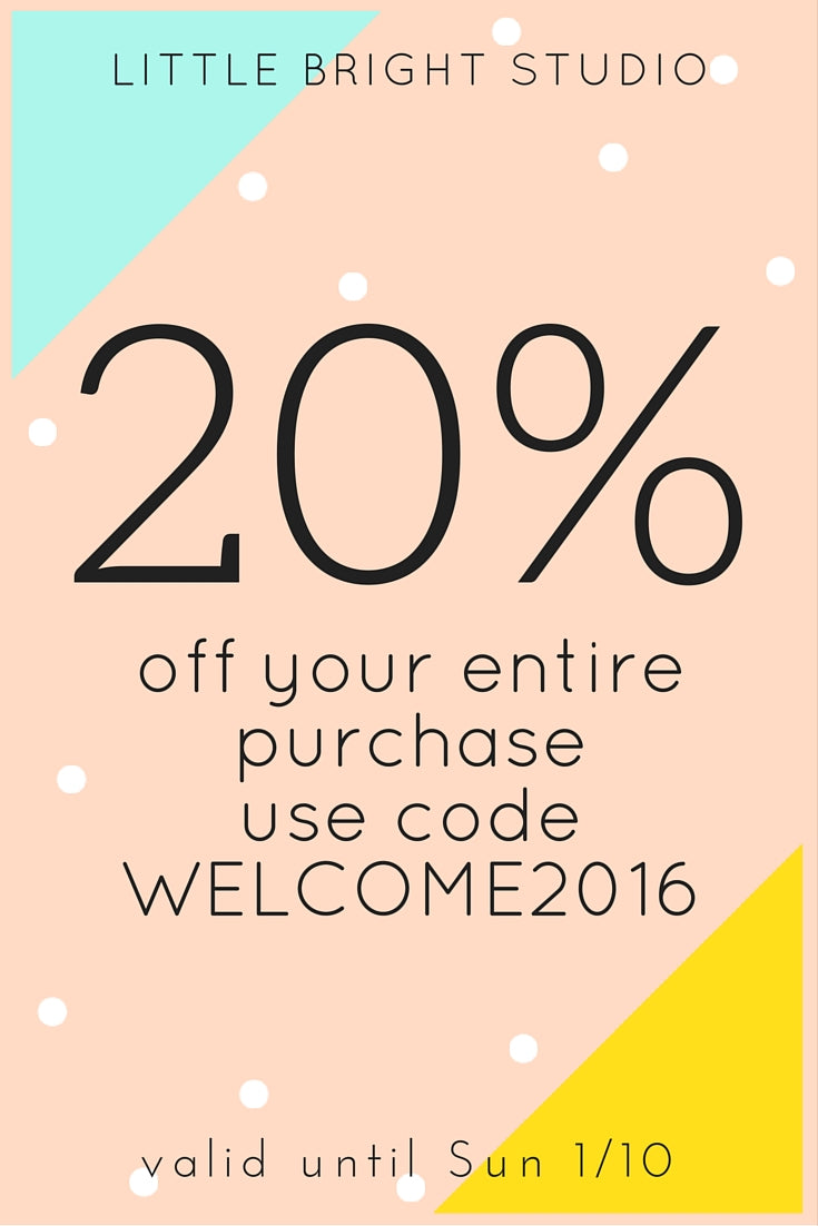 20% OFF site wide with code WELCOME2016. Valid until Sun 1/10