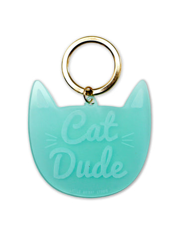 Cat Dude Keychain