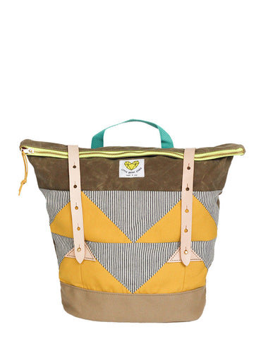 Waxed Canvas Bag - Mustard Yellow