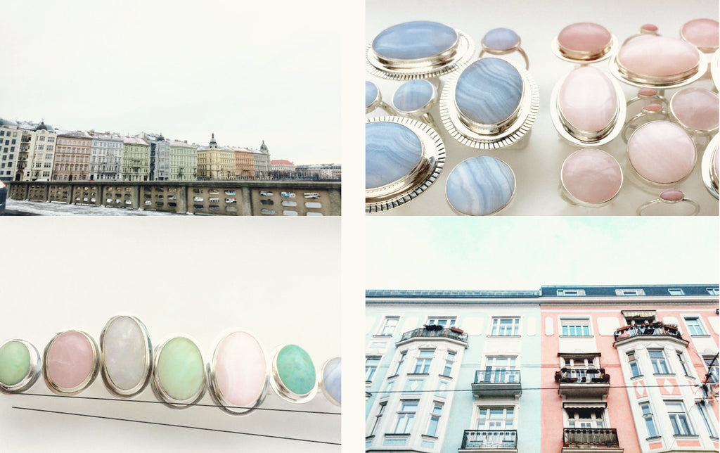 Pretty Pastels Rings and Buildings