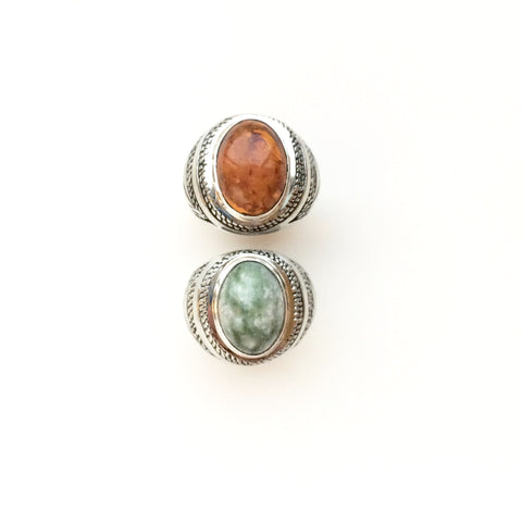 Amber or Jade Third Eye Ring