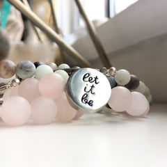 Let it Be Beaded Bracelet