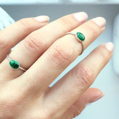 Green Jasper Stacking Ring