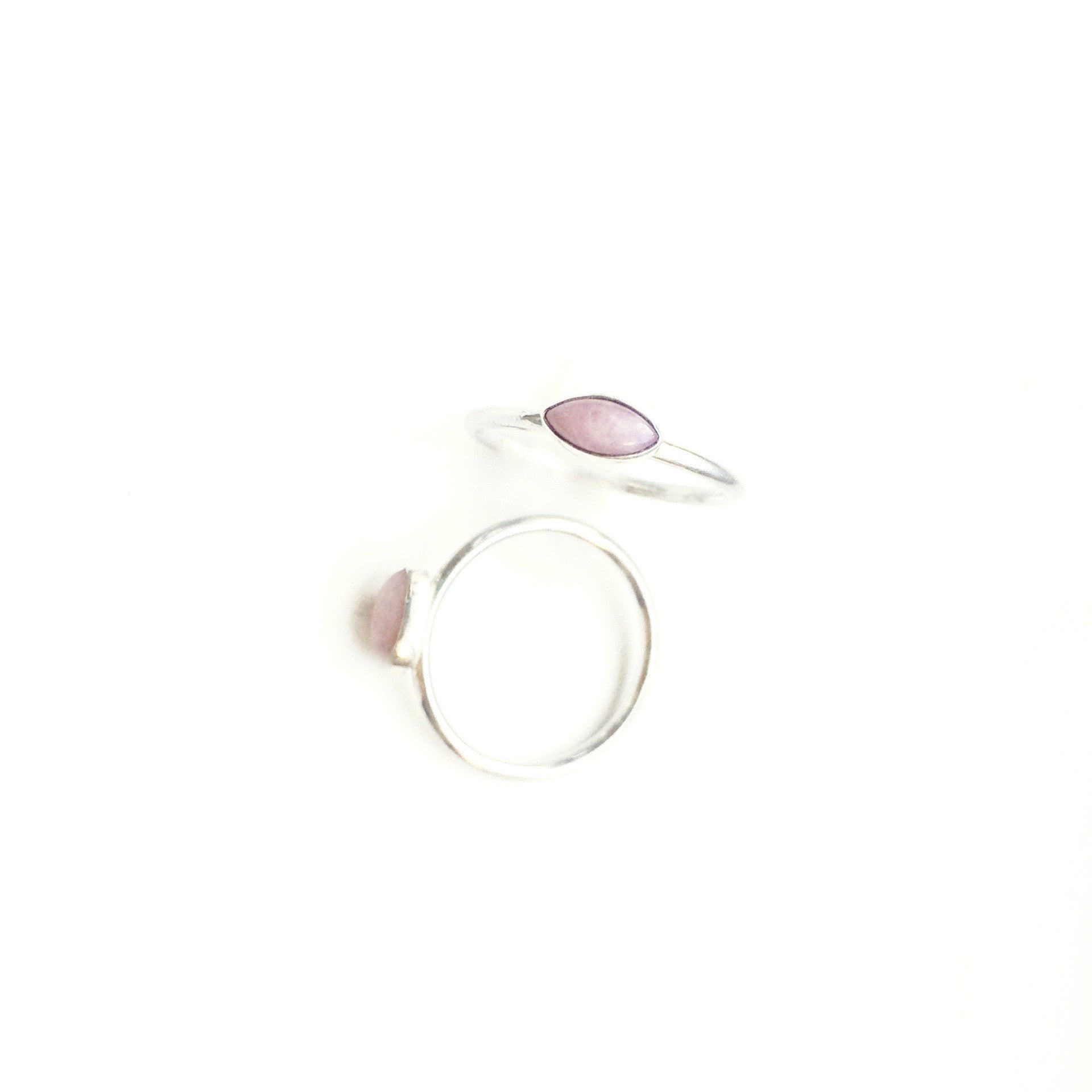 Rose Quartz Stacking Ring