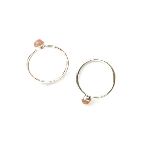Peach Moonstone Stacking Ring
