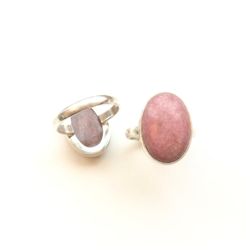 Rhodonite Sterling Silver Ring