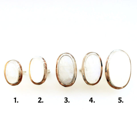 Long Oval Moonstone Rings